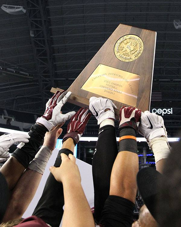 The 2014 Ennis Lions claimed the 5A Division II State Championship title with 38-35 victory over Cedar Park on Dec. 19.