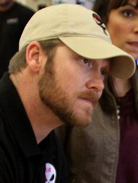 Chris Kyle during a book signing at Camp Pendleton in January 2012.