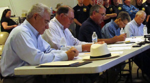 "Ellis County Emergency Service District #6 board members (left to right): Charles ""Chuck"" McCormack, Bill Derden, Joe Williamson, Bill Gilliland and Tommy Hamilton."
