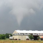 Michael Rich snapped a photo of this confirmed tornado in Waxahachie Tuesday afternoon.
