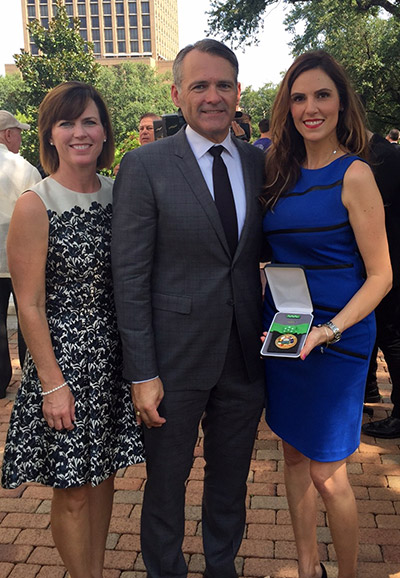 Michele and State Rep. John Wray with Taya Kyle.