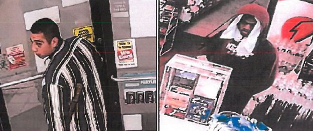 The two individuals, a hispanic male and black male, are suspects in multiple aggravated robberies across the metroplex. The latest crime occured at the Exxon Tiger Mart located at 100 Harris Ave. in Red Oak on Sunday, August 21, 2016.