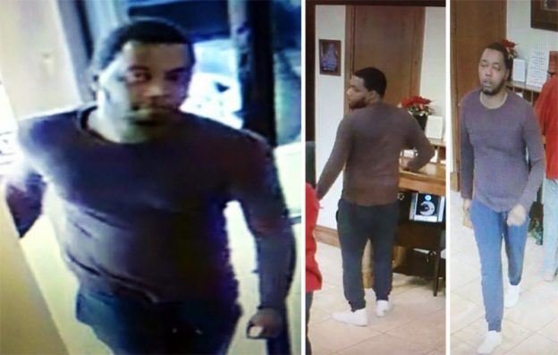 Surveillance camera photos of suspect involved in robbery of Prosperity Bank in Red Oak on December 30, 2016.