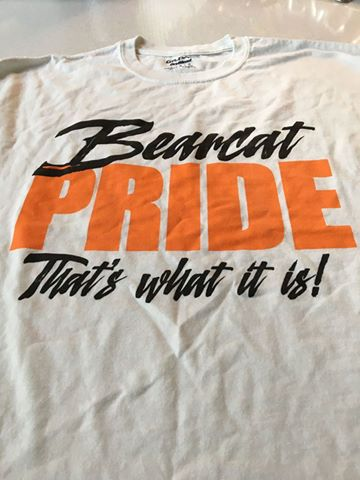 "A Pilot Point ""Bearcat Pride"" t-shirt was found on human remains discovered near Alma on Saturday, July 15, 2017."