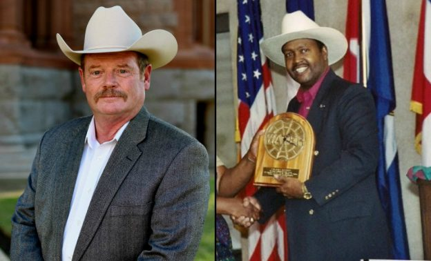"Left: Charles E ""Chuck"" Edge. Right: Charlie Daniels."